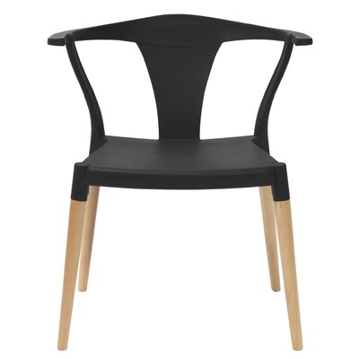 Icon Solid Wood Dining Chair Finish: Black