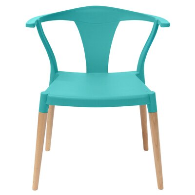 Icon Solid Wood Dining Chair Finish: Turquoise