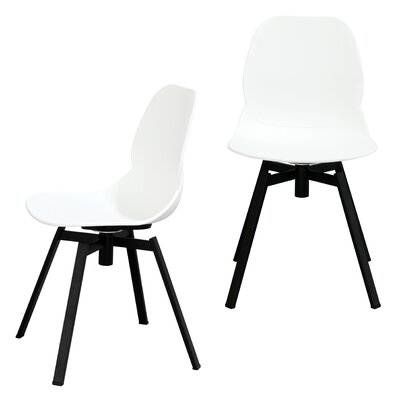 Joy Dining Shell Side Chair Finish: White