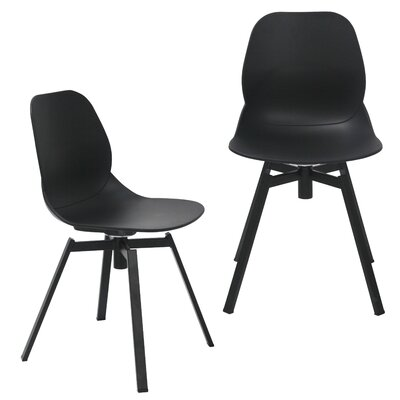 Joy Dining Shell Side Chair Finish: Black