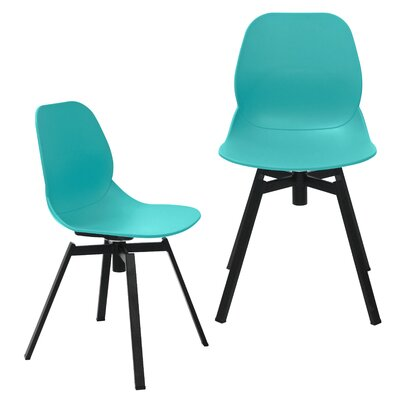 Joy Dining Shell Side Chair Finish: Turquoise