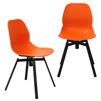 Joy Dining Shell Side Chair Finish: Orange