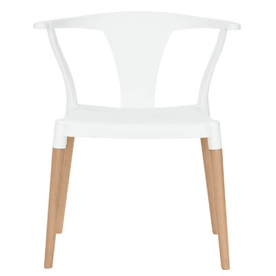 Icon Solid Wood Dining Chair Finish: White