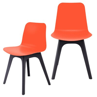 Hebe Series Dining Shell Side Chair Finish: Orange