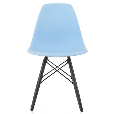 Onyx Solid Wood Dining Chair Finish: Blue