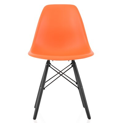 Onyx Solid Wood Dining Chair Finish: Orange