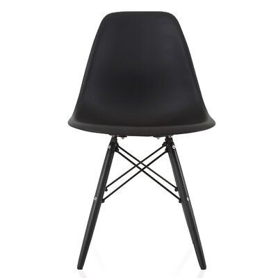Onyx Solid Wood Dining Chair Finish: Black