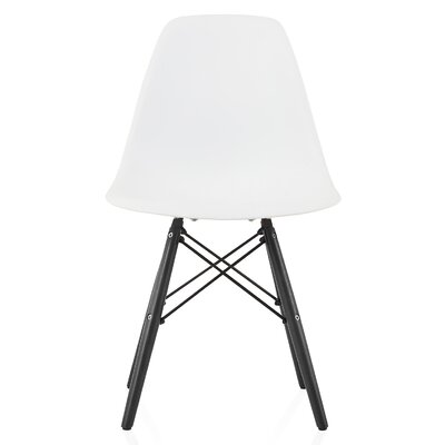Onyx Solid Wood Dining Chair Finish: White