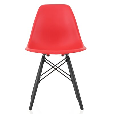 Onyx Solid Wood Dining Chair Finish: Red