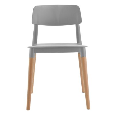 Bel Solid Wood Dining Chair Frame Color: Grey