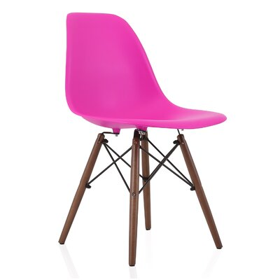Nature Series Solid Wood Dining Chair Finish: Shocking Pink