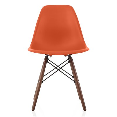 Bakken Solid Wood Dining Chair Finish: Blood Orange