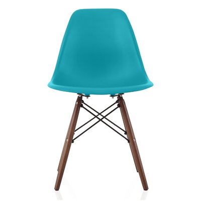 Bakken Solid Wood Dining Chair Finish: Teal Blue