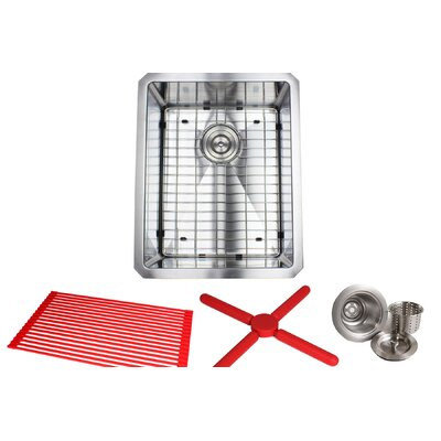 Ariel Premium Stainless Steel 20 x 16 Undermount Kitchen Sink with Sink Grid and Drain Assembly