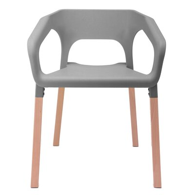 Amy Arm Chair Finish: Gray