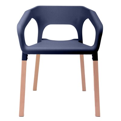 Amy Arm Chair Finish: Navy