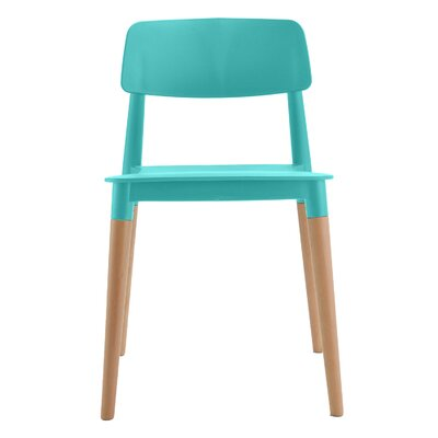 Bel Solid Wood Dining Chair Frame Color: Turquoise