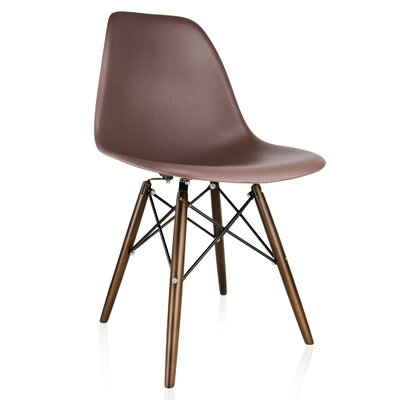 Whiteaker Molded Plastic Dining Chair Color: Brown/Dark Walnut
