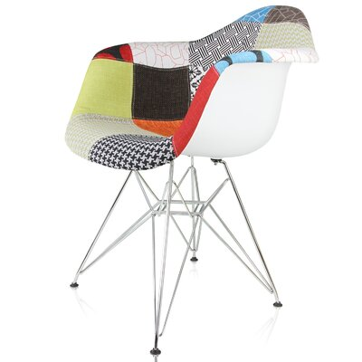 Rapier Patchwork Fabric Upholstered Armchair