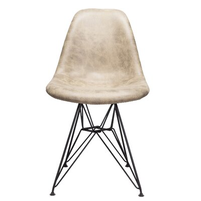 Laure Side Chair Upholstery: Light Brown
