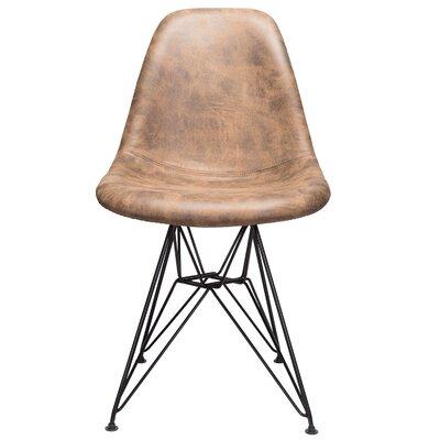 Laure Side Chair Upholstery: Dark Brown