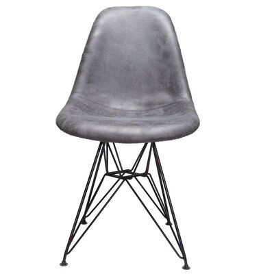 Laure Side Chair Upholstery: Gray