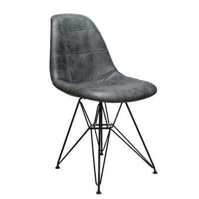 Cristopher Checkerboard Side Chair Upholstery: Gray