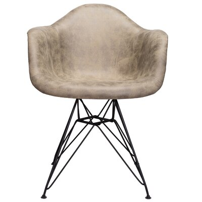 Laure Armchair Upholstery: Light Brown