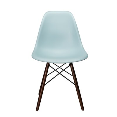 Bakken Molded Plastic Dining Chair Color: Ice Blue