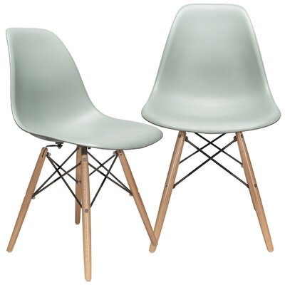 Aquarius Solid Wood Dining Chair Color: Moss Gray