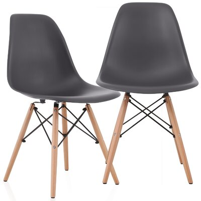Aquarius Solid Wood Dining Chair Color: Carbon Gray