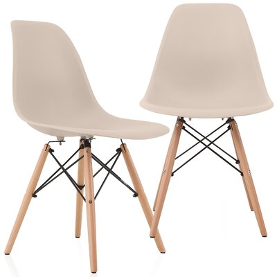 Aquarius Solid Wood Dining Chair Color: Beige
