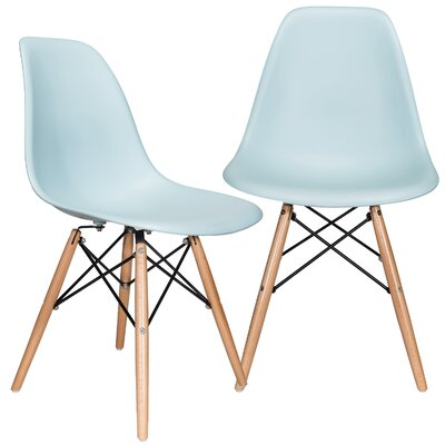 Aquarius Solid Wood Dining Chair Color: Ice Blue
