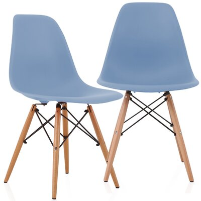 Aquarius Solid Wood Dining Chair Color: Slate Blue
