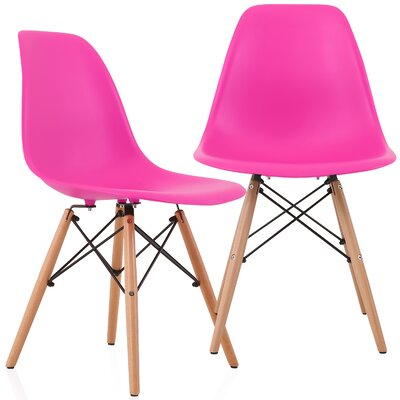 Aquarius Solid Wood Dining Chair Color: Shocking Pink