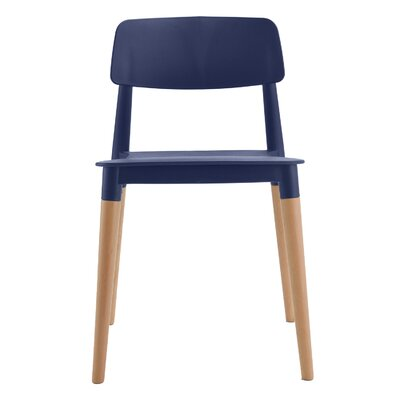 Bel Solid Wood Dining Chair Frame Color: Navy