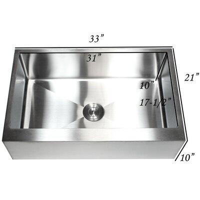 Ariel 33 x 21 Farmhouse/Apron Kitchen Sink with Accessories