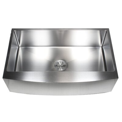 Ariel 36 x 21 Undermount Kitchen Sink with Bonus Accessories