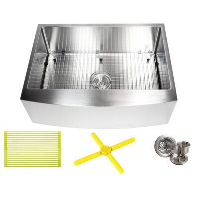 Ariel 30 x 21 Farmhouse/Apron Kitchen Sink with Bonus Accessories