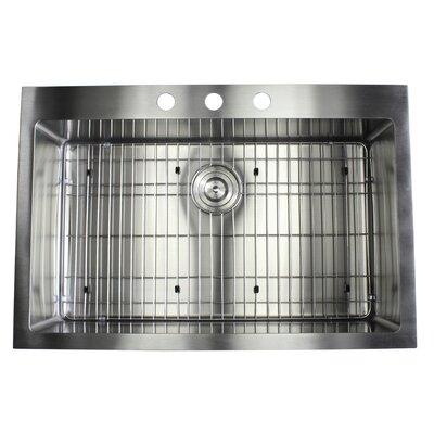 Ariel 33 x 22 Drop-In Kitchen Sink with Bonus Accessories
