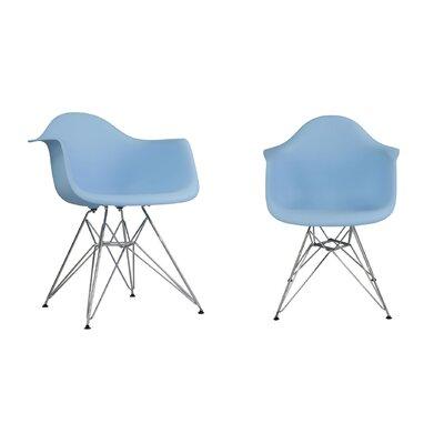 Dreier Molded Dining Chair Color: Blue