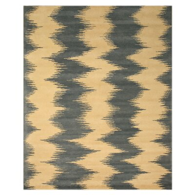 Zebo Denim Blue/Ivory Outdoor Area Rug Rug Size: 5 x 8