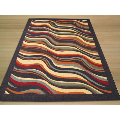 Euro Home Black Abstract Rug