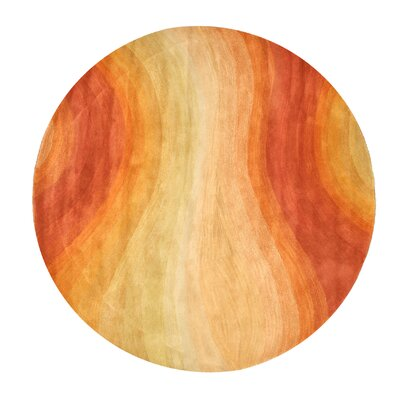 Desert Hand-Tufted Wool Orange Area Rug Rug Size: Round 10