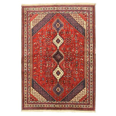 Yalameh Red Hand-Knotted Area Rug