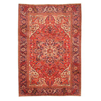 Heriz Red Hand-Knotted Area Rug