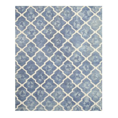 Hand Tufted Blue & Ivory Area Rug Rug Size: Rectangle 5 x 8