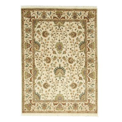 Hand-Knotted Ivory Area Rug