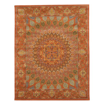 Gombad Hand-Tufted Rust Area Rug Rug Size: Rectangle 96 x 136