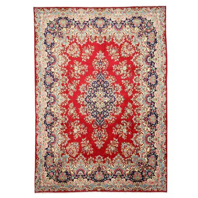 Kerman Hand-Knotted Red Area Rug